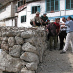 The Gabion wall protecting the village from mudslides Photo : EC/ECHO/Daniela Cavini
