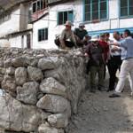 The Gabion wall protecting the village from mudslides Photo : EC/ECHO/Daniela Cavini