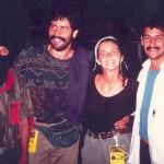 Chiapas-1996-con-Tacho-braccio-destro-del-sub-comandante-Marcose-due-colleghi-giornalisti-messicani