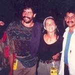 Chiapas 1996 - con Tacho, braccio destro del sub-comandante Marcos,e due colleghi giornalisti messicani