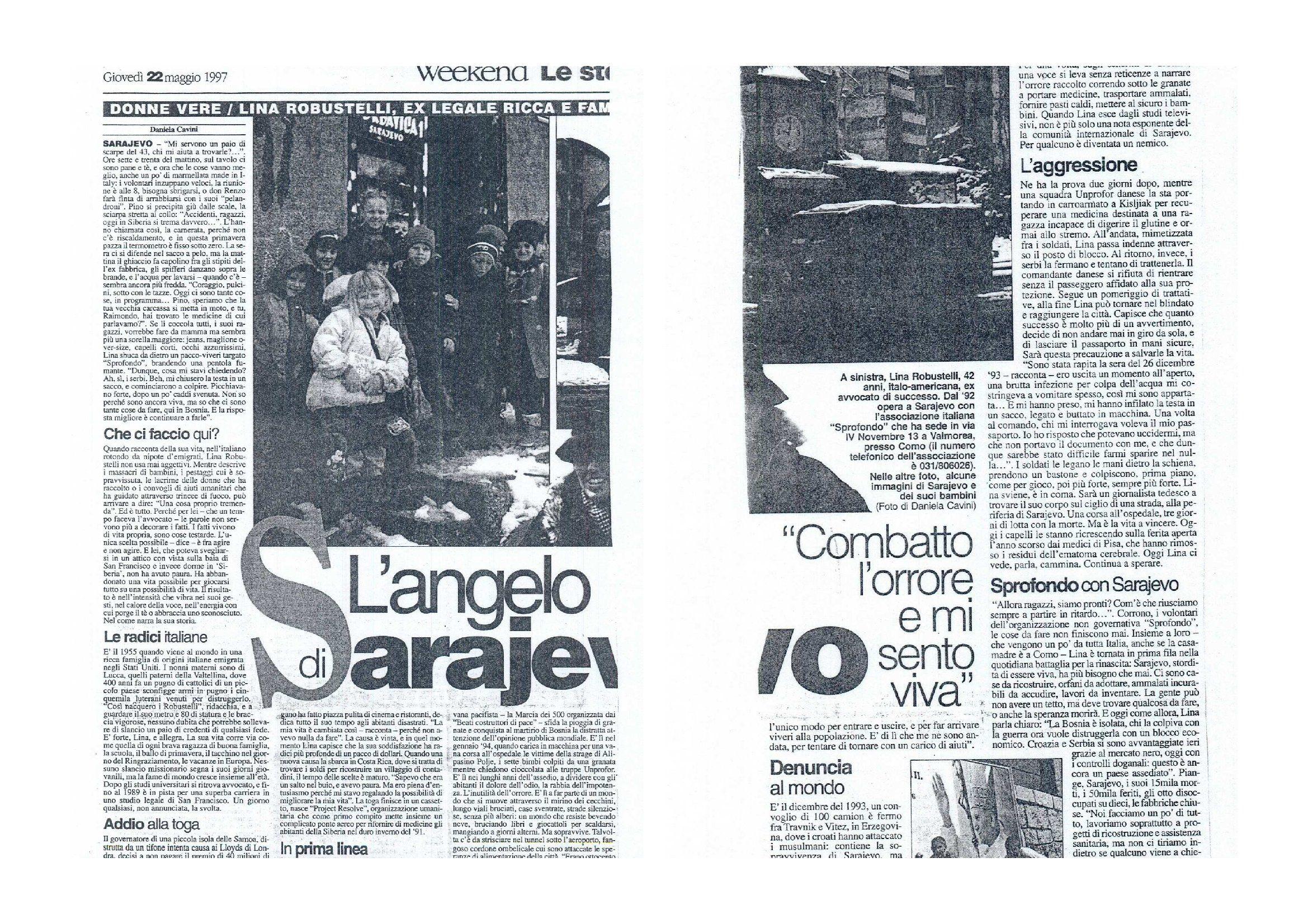 l'angelo di Sarajevo doppio image