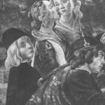 Con la madre Lucrezia e il fratello Gian Galeazzo